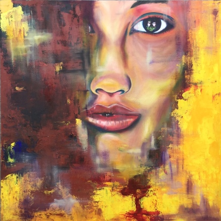 "ABOUT: Secrets X WYSIWYG 36"" x 36"" Oil on Canvas SOLD"