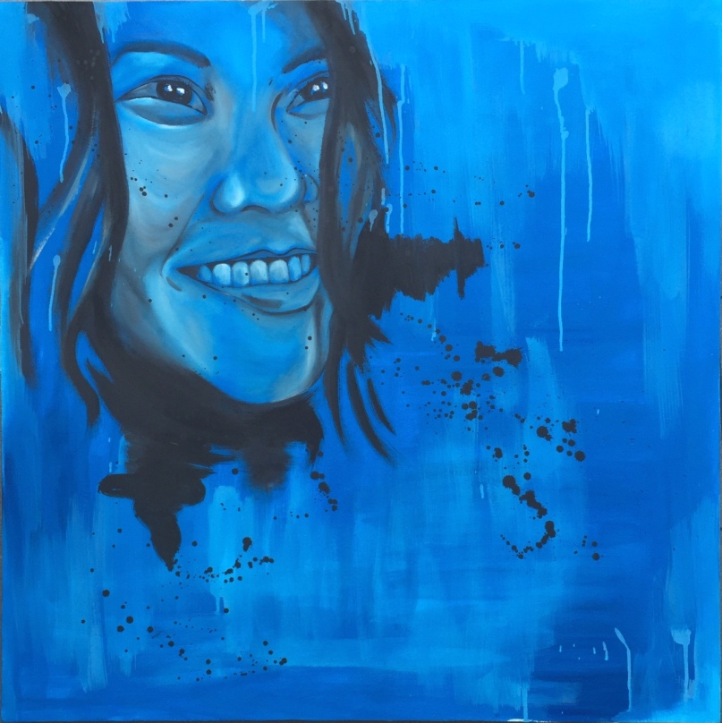 "ABOUT: Release Sometimes it's better to let go 36"" x 36"" Oil on Canvas"
