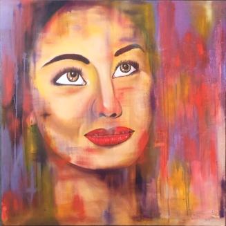 "ABOUT: Passion There is always more to give 36"" x 36"" Oil on Canvas"
