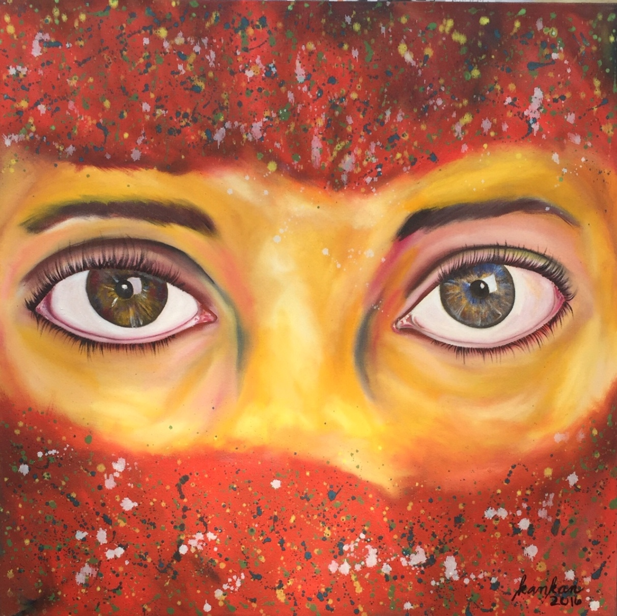 "ABOUT: Revelations Look, so that you get a glimpse 36"" x 36"" Oil on Canvas"