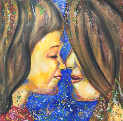 "ABOUT: Trust Our values will always shine through 36"" x 36"" Oil on Canvas SOLD"