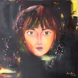 "ABOUT: Multiplicity I am a mystery onto myself 36"" x 36"" Oil on Canvas SOLD"