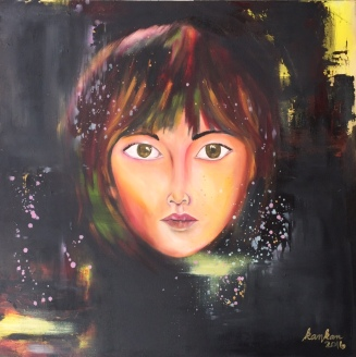 """ABOUT: Multiplicity I am a mystery onto myself 36"""" x 36"""" Oil on Canvas SOLD"""