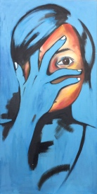 "DISCERNMENT I prefer to focus on the good 24"" x 48"" Oil on Canvas RESERVED"